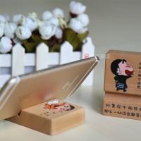 广东 定制礼品手机底座 **时尚木质手机支架 出口美国