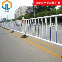 【冀林】道路护栏现货供应 公路安全隔离护栏 橡胶底座车道镀锌管栏杆
